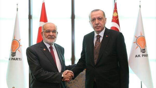 Recep Tayyip Erdoğan - Temel Karamollaoğlu - Sputnik Türkiye