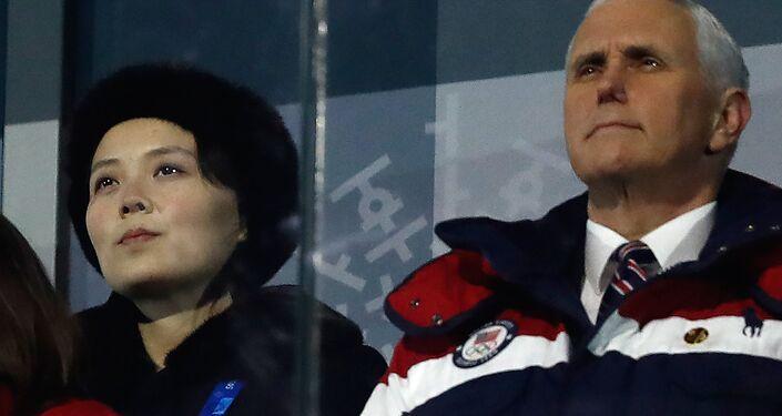 Kuzey Kore'yi yöneten Kim ailesinden Güney Kore'yi ziyaret eden ilk isim olan Kim Yo-jong ve Pence birbirleriyle hiçbir temas kurmadı.