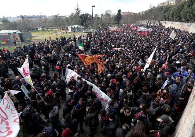 İtalya'da ırkçılık karşıtı eylem