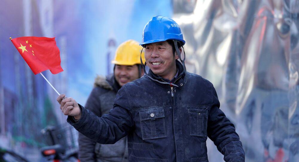 Pekin inşaat Çinli işçiler