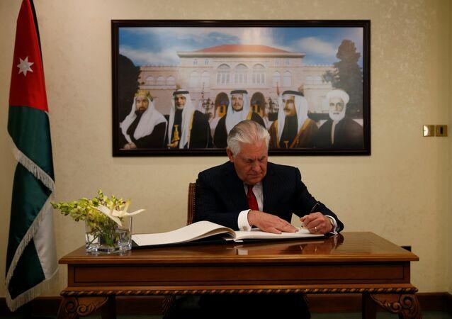 Rex Tillerson Amman Ürdün