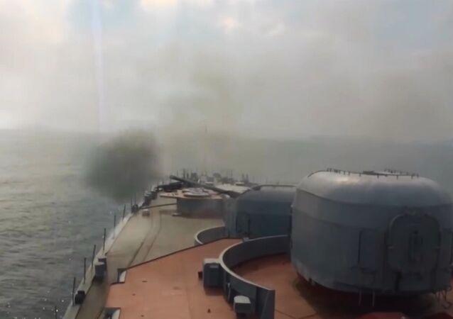 Rus denizaltısavar gemisinden Japon Denizi'nde füze atışları