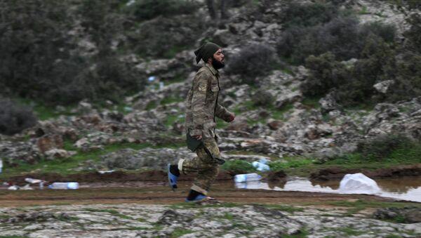 Türkiye destekli ÖSO güçleri-Afrin kırsalı - Sputnik Türkiye
