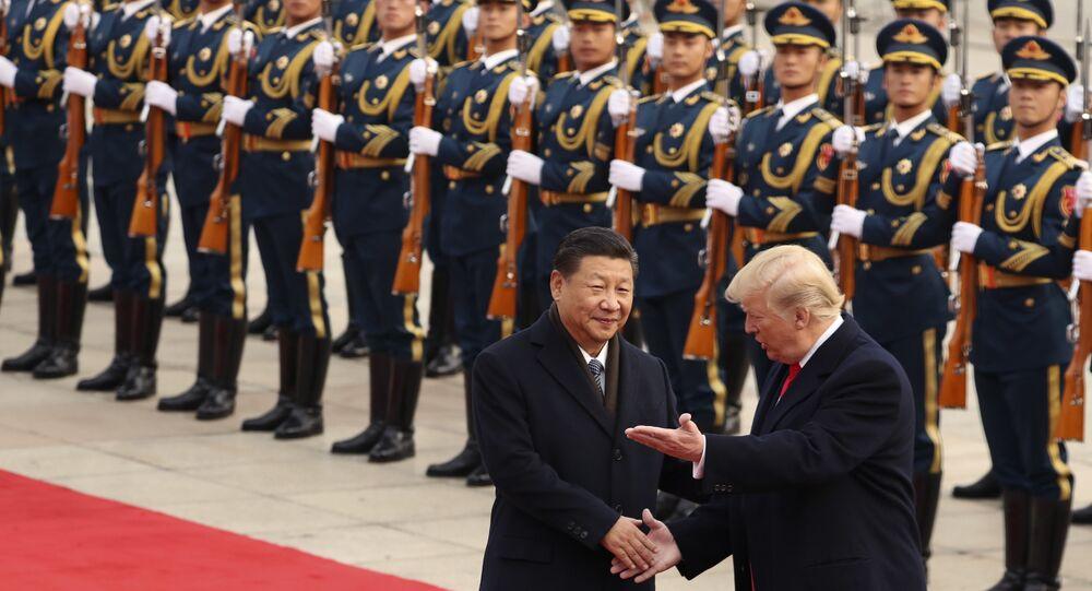 Trump ile Şi'nin Pekin'de Ulusal Halk Kongresi binası Büyük Halk Salonu'nu ziyareti