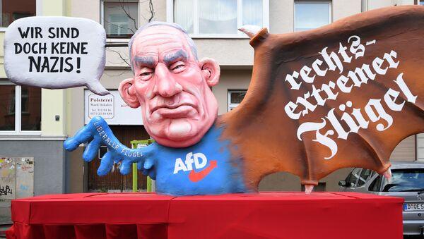 AfD Protesto- Alexander Gauland - Sputnik Türkiye