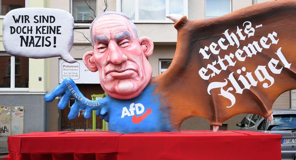 AfD Protesto- Alexander Gauland