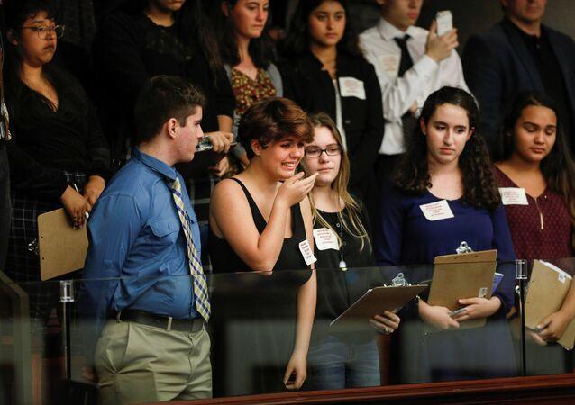 Tallahassee Florida Eyalet Meclisi Marjory Stoneman Douglas Lisesi öğrencileri