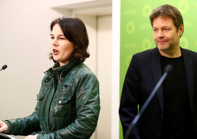 Almanya Yeşiller Partisi eşbaşkanları Robert Habeck ve Annalena Baerbock