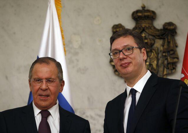 Sergey Lavrov ve Aleksandr Vuçiç