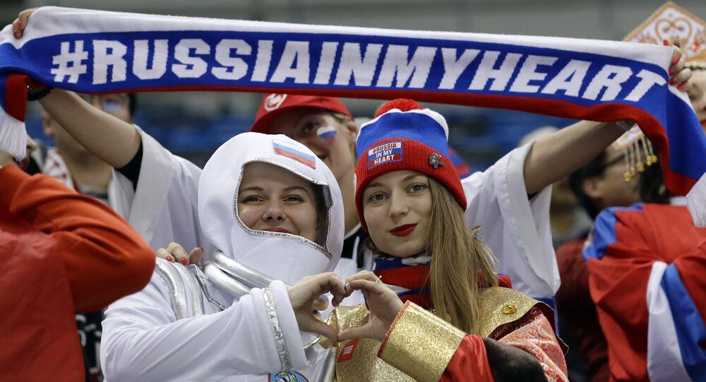 PyeongChang Kış Olimpiyat Oyunları- Rus taraftarlar