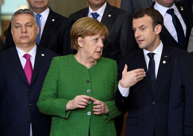 Orban Merkel Macron AB zirvesi Brüksel