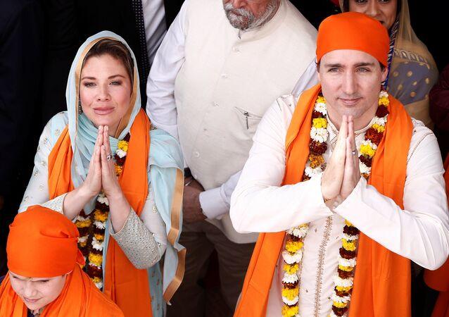 Kanada Başbakanı Justin Trudeau Hindistan'da