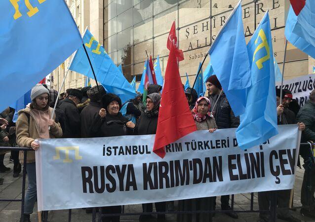 İstanbul'da Kırım protestosu
