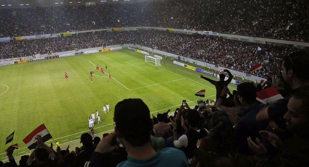 Irak Kerbela stadyumu Irak Suriye milli futbol takımları dostluk maçı 13 Kasım 2017