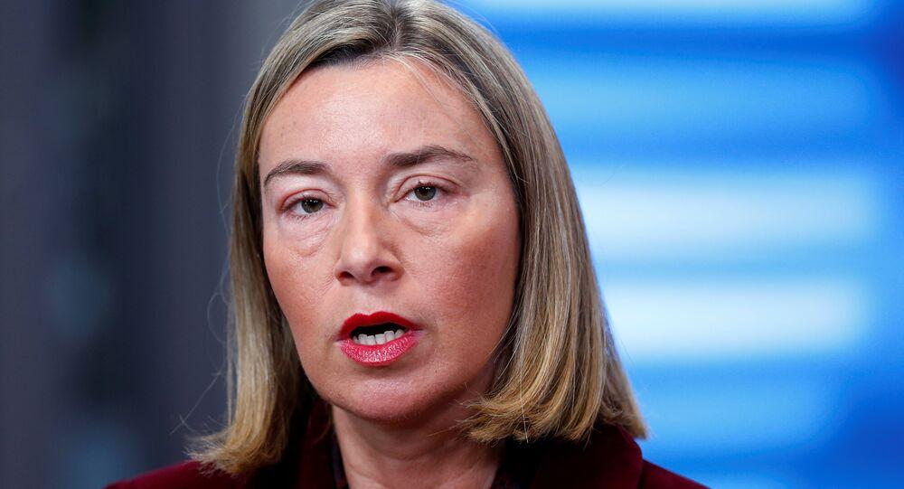 Avrupa Birliği'nin (AB) Dış İlişkiler ve Güvenlik Politikasından Sorumlu Yüksek Temsilcisi Federica Mogherini
