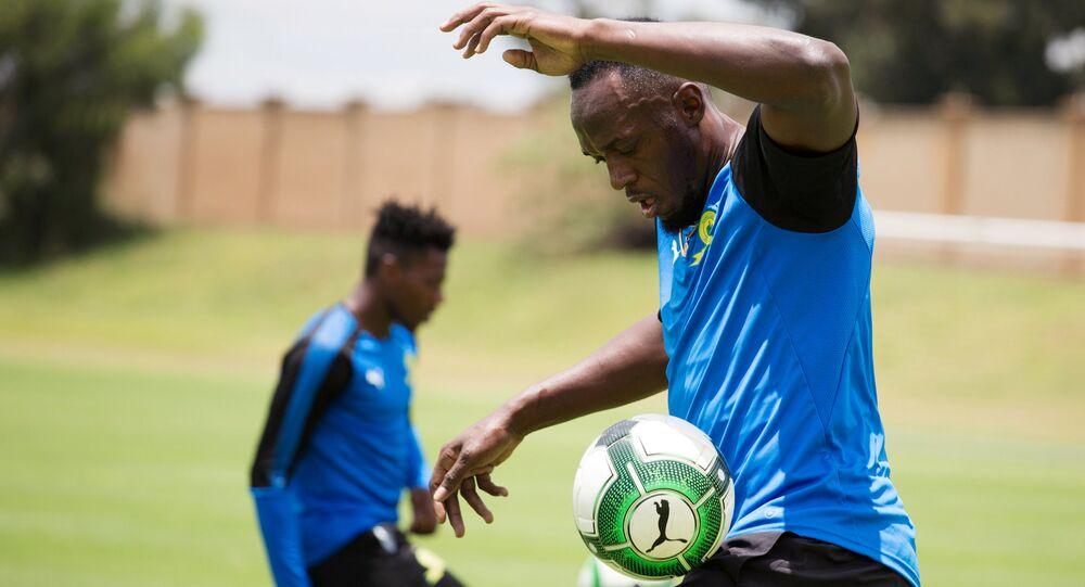 Usain Bolt Mamelodi Sundowns antremanı Johannesburg Güney Afrika