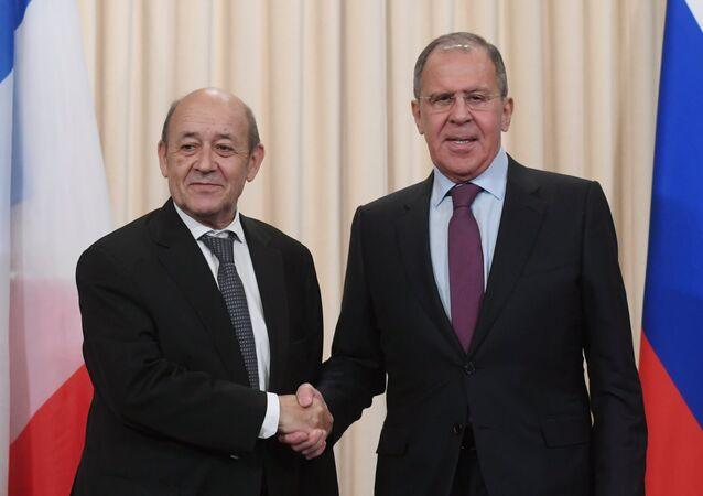 Rusya Dışişleri Bakanı Sergey Lavrov-Fransa Dışişleri Bakanı Jean-Yves Le Drian