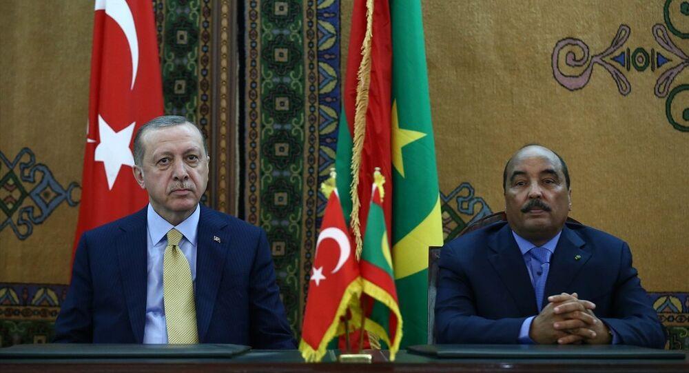 Cumhurbaşkanı Recep Tayyip Erdoğan, Moritanya Cumhurbaşkanı Muhammed Veled Abdulaziz ile Cumhurbaşkanlığı Sarayı'nda bir araya geldi