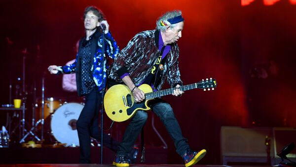 Rolling Stones Mick Jagger Keith Richards Stones - No Filter turu Esprit arena Düsseldorf 2017 - Sputnik Türkiye