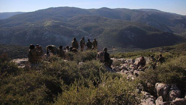 Afrin Racu'nun batısı 687. Tepe - Sputnik Türkiye
