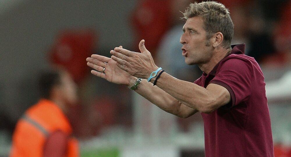 Massimo Carrera, Spartak's acting head coach, at the Russian Premier Football League championship's 2nd round match FC Spartak Moscow vs. FC Krylya Sovetov Samara. (File)