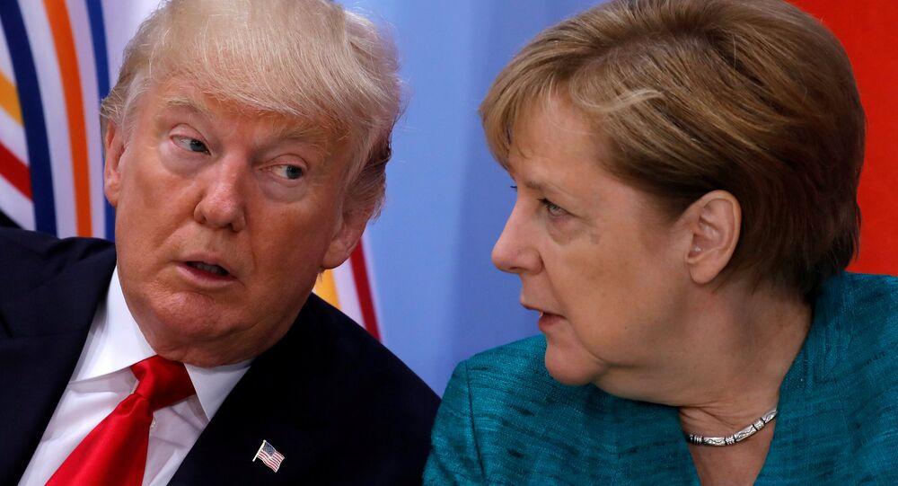 ABD Başkanı Donald Trump- Almanya Başbakanı Angela Merkel