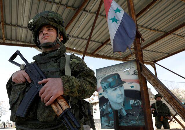 Rus askeri-Şam-El Vafidin mülteci kampı