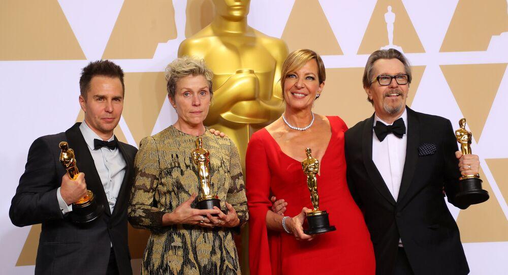 Sam Rockwell, Frances McDormand, Allison Janney and Gary Oldman - Oscar 2018