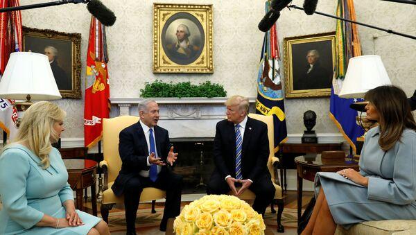 İsrail Başbakanı Benyamin Netanyahu- ABD Başkanı Donald Trump - Sputnik Türkiye