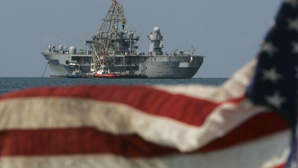ABD Deniz Kuvvetleri 6. Filo bayrak gemisi USS Mount Whitney Akdeniz - Sputnik Türkiye