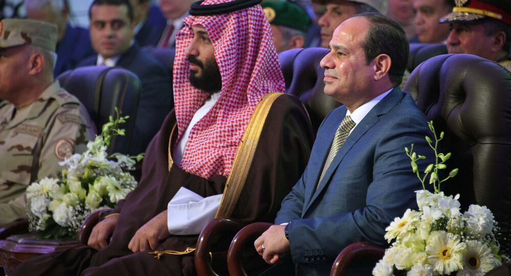 Suudi Veliaht Prens Muhammed bin Selman (MbS), Mısır Cumhurbaşkanı Abdülfettah Sisi Kahire