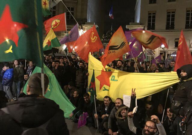 Paris'te Afrin protestosu (arşiv)