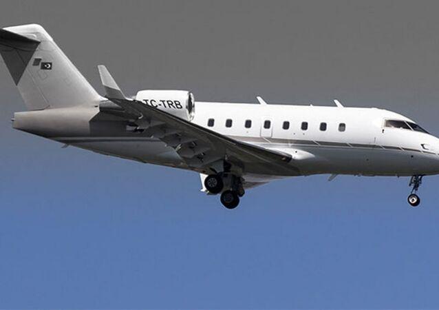 TC-TRB tescilli Bombardier Challenger 604 tipi iş jeti