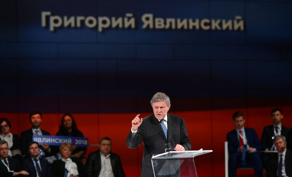 Rusya devlet başkanı adayı Grigoriy Yavlinskiy