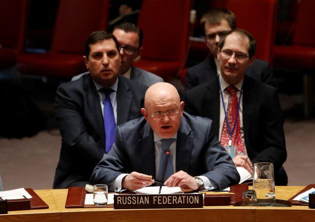 Rusya'nın Birleşmiş Milletler (BM) Daimi Temsilcisi Vasiliy Nebenzya