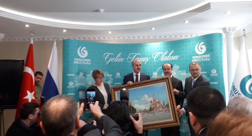 Moskova'da Yunus Emre Türk Kültür Merkezi açıldı