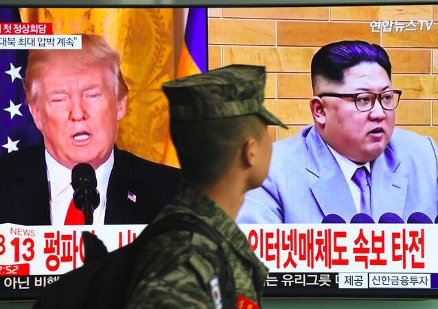 ABD Başkanı Donald Trump- Kuzey Kore lideri Kim Jong-un
