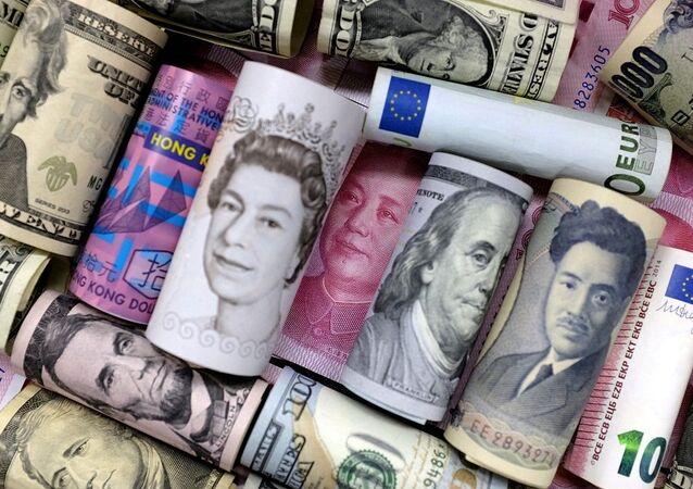 euro, dolar, sterlin, yen