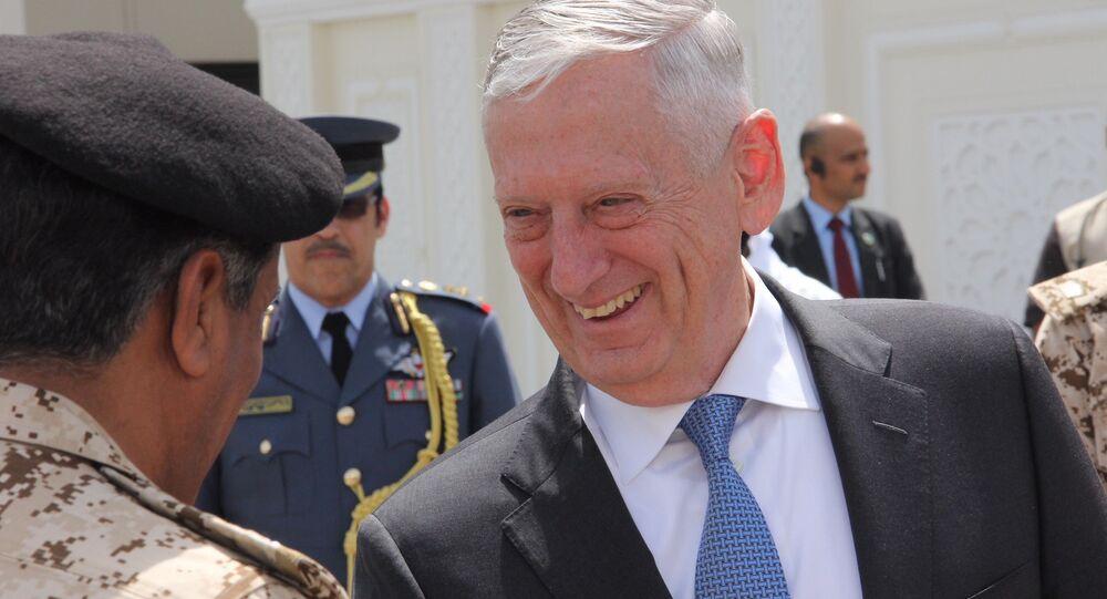 US Defence Secretary Jim Mattis Bahreyn