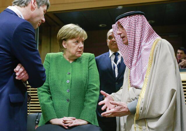Almanya Başbakanı Angela Merkel-Suudi Arabistan Dışişleri Bakanı Adil el Cübeyr