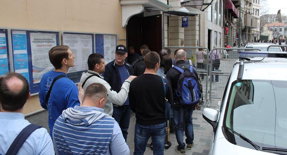 İstanbul'daki Rusya vatandaşları sandık başında
