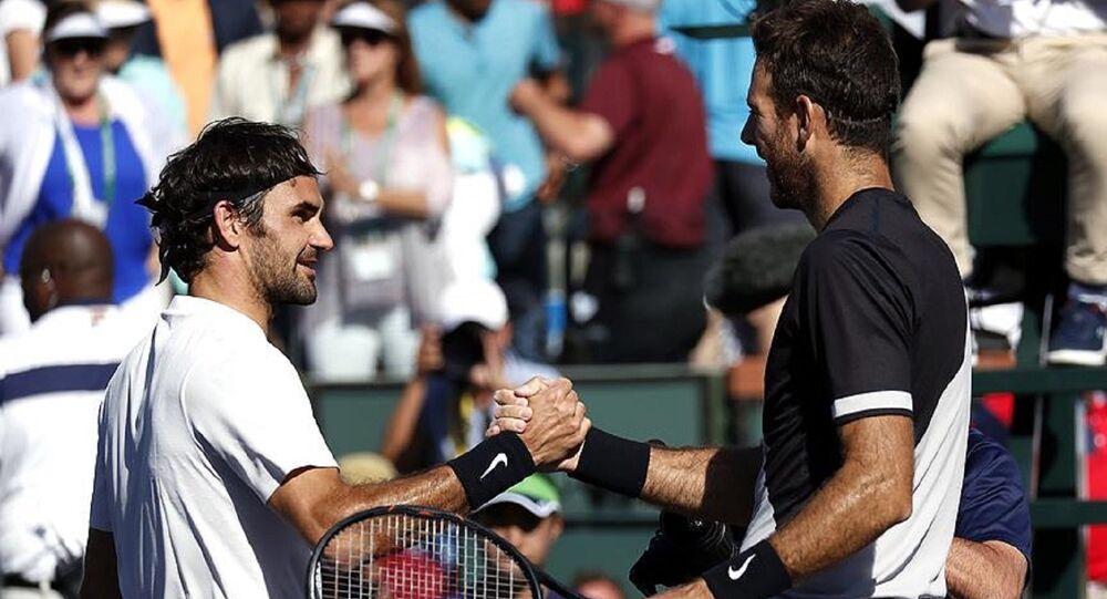 Roger Federer ve Juan Martin Del Potro