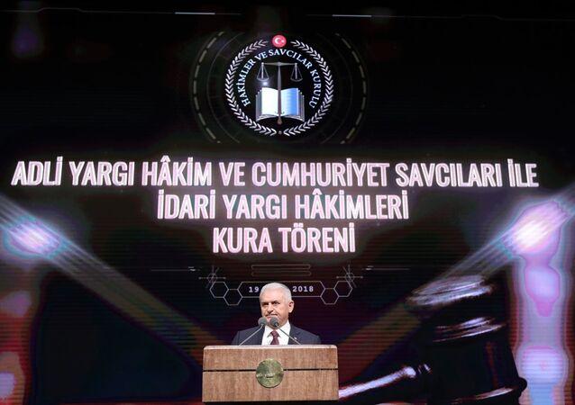 Beştepe Millet Kültür ve Kongre Merkezi'nde düzenlenen Adli Yargı Hakim ve Cumhuriyet Savcıları ile İdari Yargı Hakimleri Kura Töreni'nde Başbakan Binali Yıldırım da konuştu.