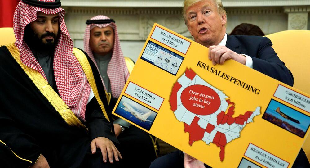ABD Başkanı Donald Trump Suudi Arabistan Veliaht Prens Muhammed bin Selman Beyaz Saray Oval Ofis 20 Mart 2018
