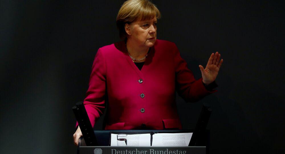 Almanya Başbakanı Angela Merkel mecliste yeni hükümet programını tanıtıyor, 21 Mart 2018