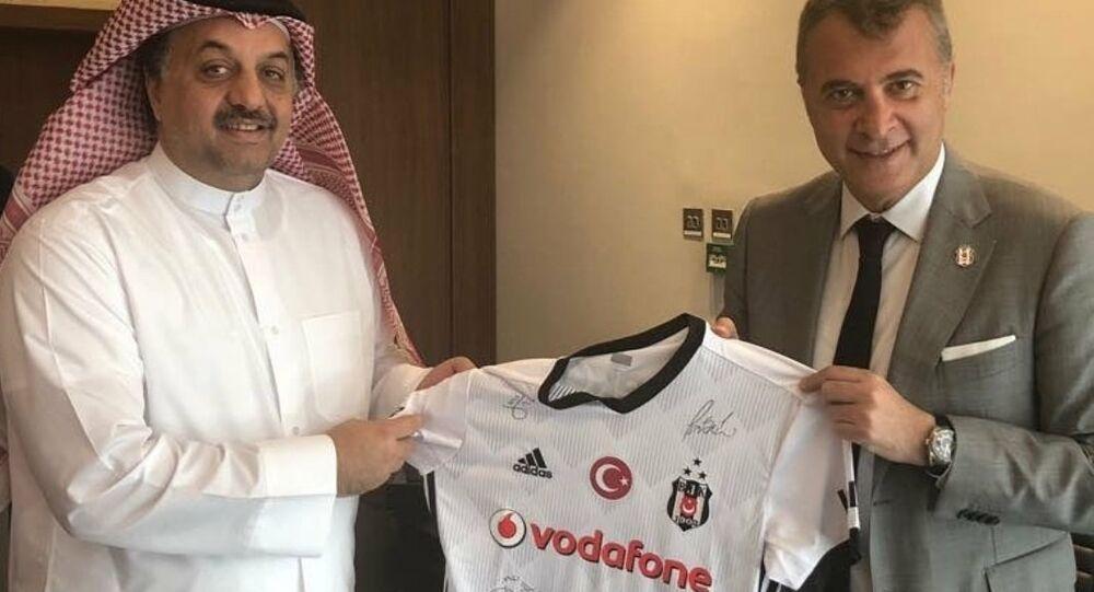 Beşiktaş Başkanı Fikret Orman- Katar Savunma Bakanı Halid bin Mohammed el Atiyye
