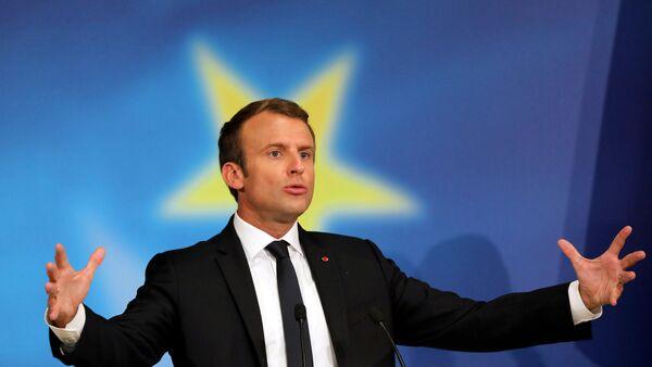 Fransa Cumhurbaşkanı Emmanuel Macron AB - Sputnik Türkiye