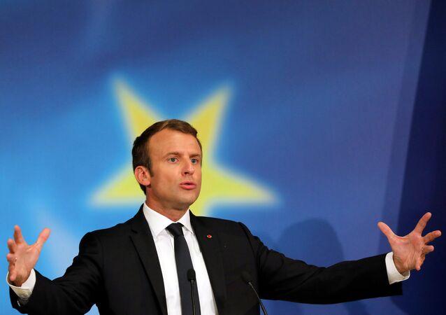 Fransa Cumhurbaşkanı Emmanuel Macron AB