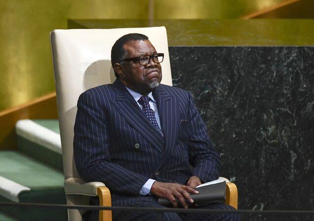 Namibya Devlet Başkanı Hage Geingob