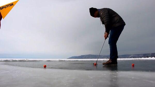 Donmuş Baykal Gölü'nde golf turnuvası - Sputnik Türkiye